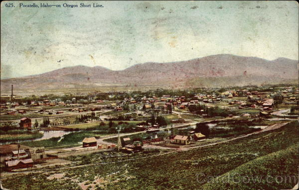 Bird's Eye View of Town Pocatello Idaho