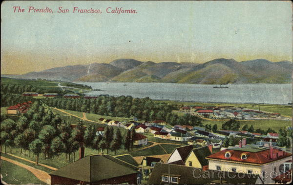 Aerial View - The Presidio San Francisco California