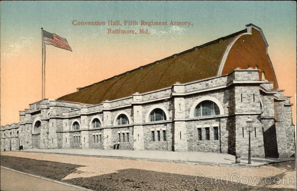Convention Hall, Fifth Regiment Armory Baltimore Maryland