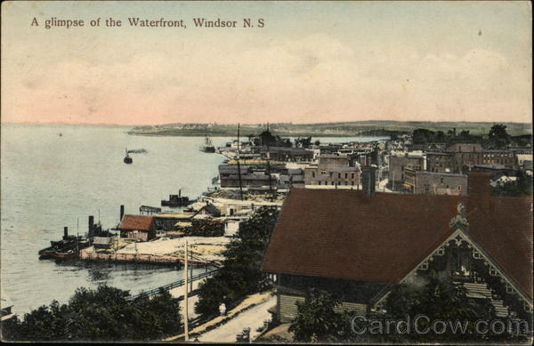 A Glimpse of the Waterfront Windsor Canada Nova Scotia