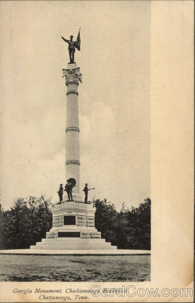 Georgia Monument - Chickamauga Battlefield Chattanooga Tennessee