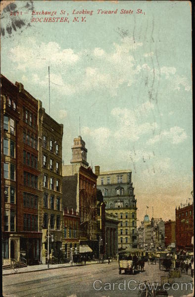 Exchange Street, Looking Toward State Street Rochester New York