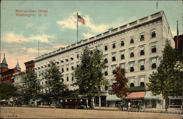 Metropolitan Hotel Washington District of Columbia