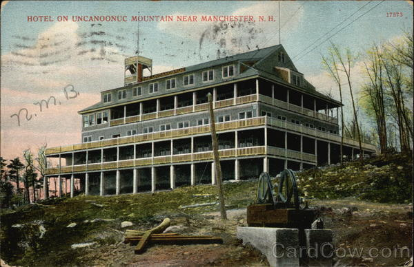Hotel on Uncanoonuc Mountain Manchester New Hampshire