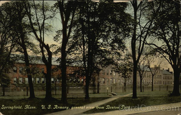 US Armory, General View from Benton Park Springfield Massachusetts