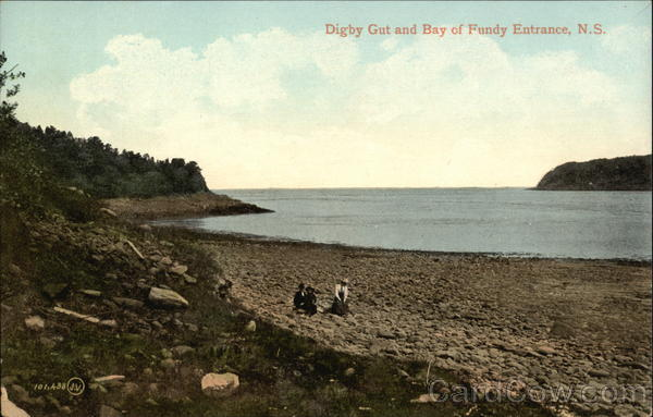 Digby Gut and Bay of Fundy Entrance Canada Nova Scotia