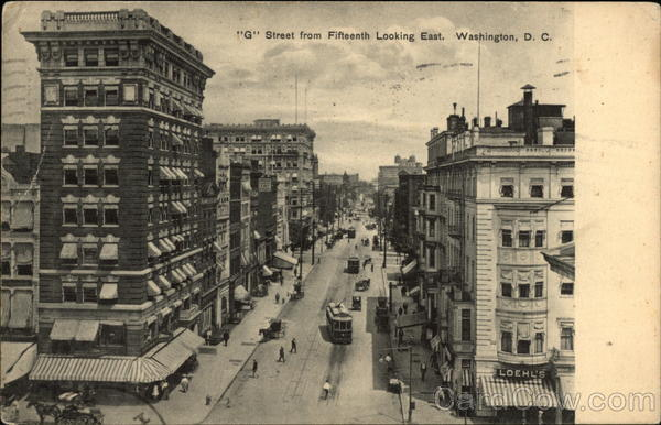 G Street from Fifteenth Looking East Washington District of Columbia