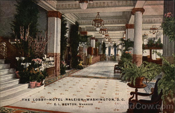 The Lobby--Hotel Raleigh Washington District of Columbia