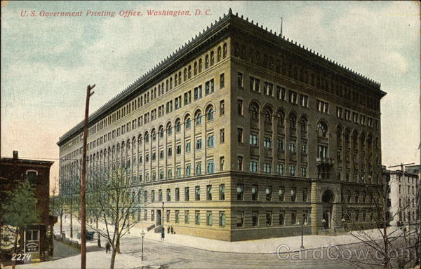 US Government Printing Office Washington District of Columbia