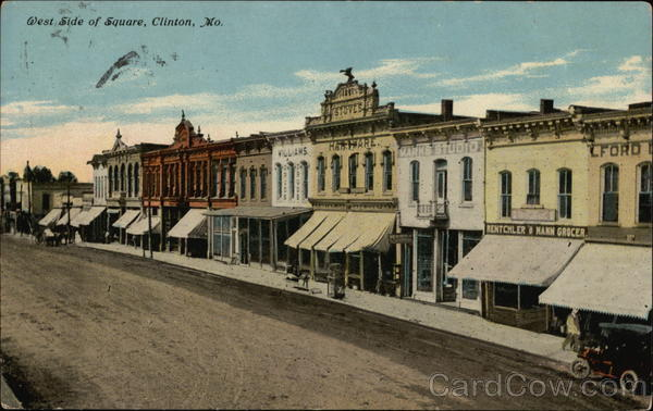 West Side of Square Clinton Missouri