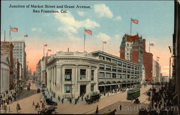 Junction of Market Street and Grant Avenue San Francisco California