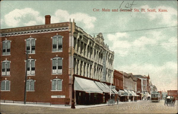 Cor. Main and 1st Sts Fort Scott Kansas