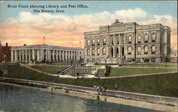 River Front Showing Library and Post Office