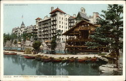 Main Entrance and Boat Landing, Lake Mohonk House