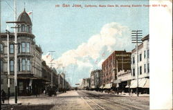 Santa Clara Street showing Electric Tower 300ft High