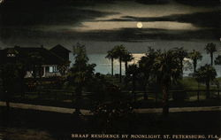 Braaf Residence by Moonlight Postcard