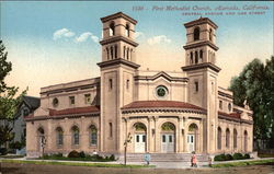 First Methodist Church, Central Avenue and Oak Street
