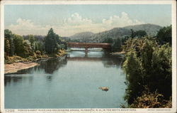 Pemigewasset Rivert and Holderness Bridge in the White Mountains