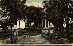 Front Entrance, William Jewell College Postcard