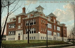 Macon High School Postcard