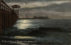 The Pier and Ocean by Moonlight