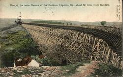 One of the water flumes of the Oakdate Irrigation Co., about 12 miles from Oakdale