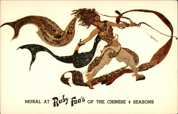 Ruby Foo's - Mural of the Chinese 4 Seasons New York