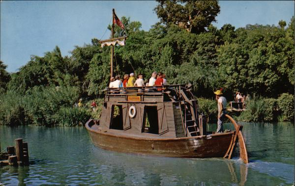 Keel Boat in Frontierland at Disneyland California