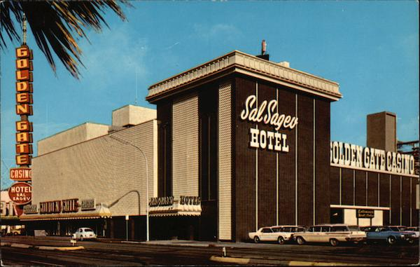 The Golden Gate Casino and Sal Sagev Hotel on Fremont and Main Streets Las Vegas Nevada