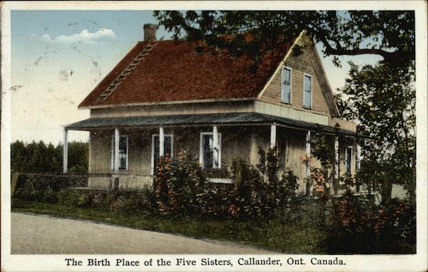 The Birth Place of the Five Sisters Callander Canada