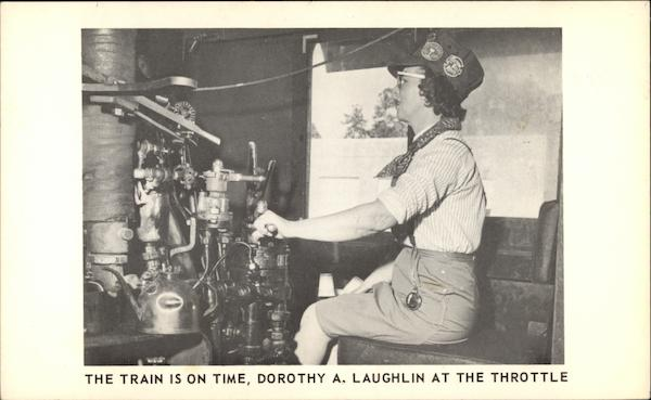 The Train is on Time, Dorothy A. Laughlin at the Throttle Miami Florida