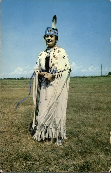 Pretty Charlotte Hensley, Indian Princess of the Winnebago Tribe