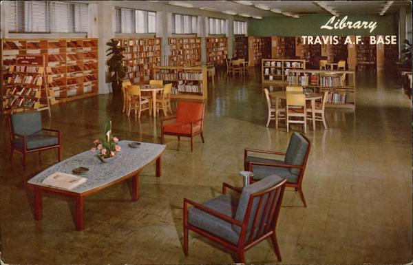 Library, Travis Air Force Base California