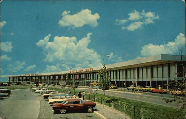 John F. Kennedy International Airport, United and Delta Airlines Building New York