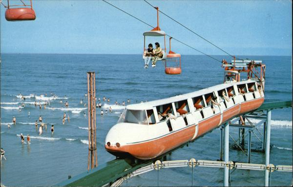Monorail Ride from Boardwalk to the Ocean Wildwood-by-the-Sea New Jersey