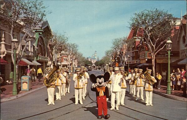 Mickey Mouse and Disneyland Band Anaheim California