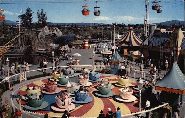 Spinning Cups and Saucers, Disneyland Anaheim California