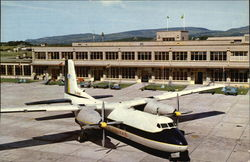 B.U.A. Dart Herald Aircraft, Isle of Man Airport Postcard