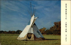 Authentic Indian Tipi Postcard