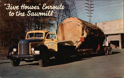 Five Houses Enroute to the Sawmill, Logging in the Pacific Northwest