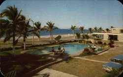 Motel Aqua Marina - Swimming Pool Postcard