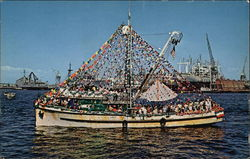 A Parading Fishing Boat Postcard