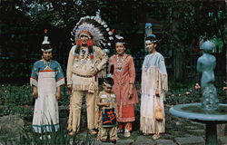 Seneca Indians - Chief Great Wolf, Nephew and Nieces