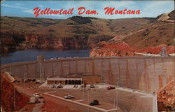 Yellowtail Dam & Visitor Center, Montana Postcard