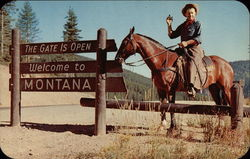 """Howdy Stranger"" - The Gate is Open - Welcome to Montana"