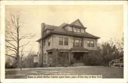 Mother Cabrini's Home in New York