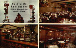 Golden Ox Restaurant Postcard