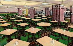 One of the Two Cafeterias in the YMCA Hotel Postcard