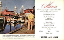 United Airlines Menu The Fishing Fleet