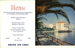 United Airlines Menu Santa Catalina Casino